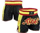 EVO Muay Thai Wettkampfhose MMA Kickboxen Ringen Kriegerisch Arts Ausrüstung UFC Herren - S BLAU, Large