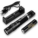 Sofirn SP31 V2.0 Taktische Taschenlampe, Cree XPL HI LED 1200 Lumen, 7 Modi, kleines Licht für edc, Camping, Angeln, Stromausfall, wasserdicht IPX8