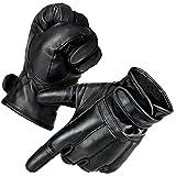 Black Snake 1 Paar Security Quarzsandhandschuhe Defender Einsatzhandschuhe aus echtem Leder Schwarz 3XL