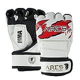 ARES Premium MMA Handschuhe   Verstärkte Nähte   Boxing Gloves   Kampfsport Boxsack Freefight Training Box-Handschuh