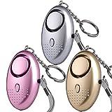 U UZOPI Taschenalarm - 140 dB Safesound Personal Alarm mit Taschenlampe Schlüsselanhänger, Panikalarm Selbstverteidigung Sirene für Frauen Kinder (3 Stücke)