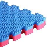 RM E-Commerce Sportmatte Tatami für Judo Karate Yoga Kampfsport MMA Puzzle Steck Matte 4cm Rot-Blau 1m x 1m