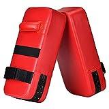 Wuudi PU Leder Schlagpolster Schlagkissen Kickschild Boxsack für Kickboxen Thaiboxen Karate UFC MMA