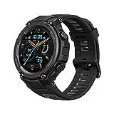 Amazfit T Rex Pro Smartwatch mit GPS, 1,3 Zoll AMOLED Display Sportuhr mit 10 ATM wasserdicht, SpO2, 24h Herzfrequenzmessung, bis zu 18 Tage Akku, 100 Sportmodi für Herren Damen (Schwarz)
