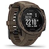Garmin Instinct Tactical - robuste GPS-Smartwatch mit taktischen Funktionen. US-Militärstandard und wasserdicht bis 10 ATM. Mit Sport-/Fitnessfunktionen, Kompass und bis zu 14 Tagen Akkulaufzeit.