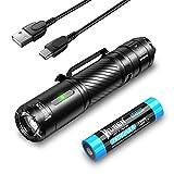 WUBEN C3 LED Taschenlampe Extrem Hell USB C Aufladbar 1200 Lumen IP68 Wasserdicht mit 6 Modi Taktische Handheld klein Taschenlampe für Outdoor Camping Wandern Notfall