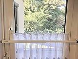 ERABOS® - Sicherungsstange für Fenster/Türen | MIT KIPPSTELLUNGS-SCHUTZ | Einbruchschutz | 101-188cm | MASSIVER STAHL | auch in BRAUN erhältlich