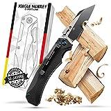 Bullhead Klappmesser einhandmesser – extra scharfes & patentiertes Taschenmesser – Ink. Geschenkbox - perfekt als Survival & Outdoor Messer, Jagdmesser