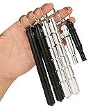 AMATHINGS 4 Stück (4er Pack) Kubotan In Schwarz Und Silber Mit Geriffeltem Griff Und 2 Stück (Doppelpack) Sehr Laute Signal-SOS-Pfeife