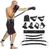 AUTUWT Springen Jump Trainer Set,Premium Fitnessbänder Jump-Widerstand-Bänder-System für Boxen, MMA, Home Gym, Muay Thai, Sanda, Bouncing Strength Training Equipment, Enhance Explosive Power