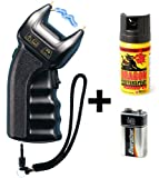 Security-Discount Germany PTB Elektroschocker 200.000 Volt inkl. Batterie & Pfefferspray