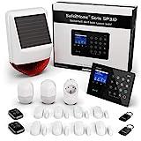 Safe2Home® Funk Alarmanlage Komplett Set SP310 Profi - Solar Sirene - Rolling Code - wechselnde Frequenz deutsch GSM Alarmsystem - SMS Alarmierung - Alarmanlagen fürs Haus Büro