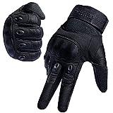 FREETOO Motorradhandschuhe Herren Sport Handschuhe Vollfinger Taktische Handschuhe mit gepolstertem Rückenseite geeignet für Motorrad Fahrrad, Paintball und andere Outdoor Aktivitäten