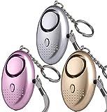 Persönlicher Alarm Taschenalarm Binky 3 Stücke 140 dB Safesound Personal Alarm mit Taschenlampe Schlüsselanhänger Panikalarm Selbstverteidigung Sirene für Kinder, Mädchen, Frauen, Senioren