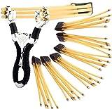 U&X Steinschleuder zwille Slingshot Schleuder Pocket Shot und 6 Pc Gummiband für Schleuder Outdoor Slingshot Sportschleuder