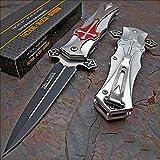 Tac-force RED Cross Folding Blade Pocket Knife by Get