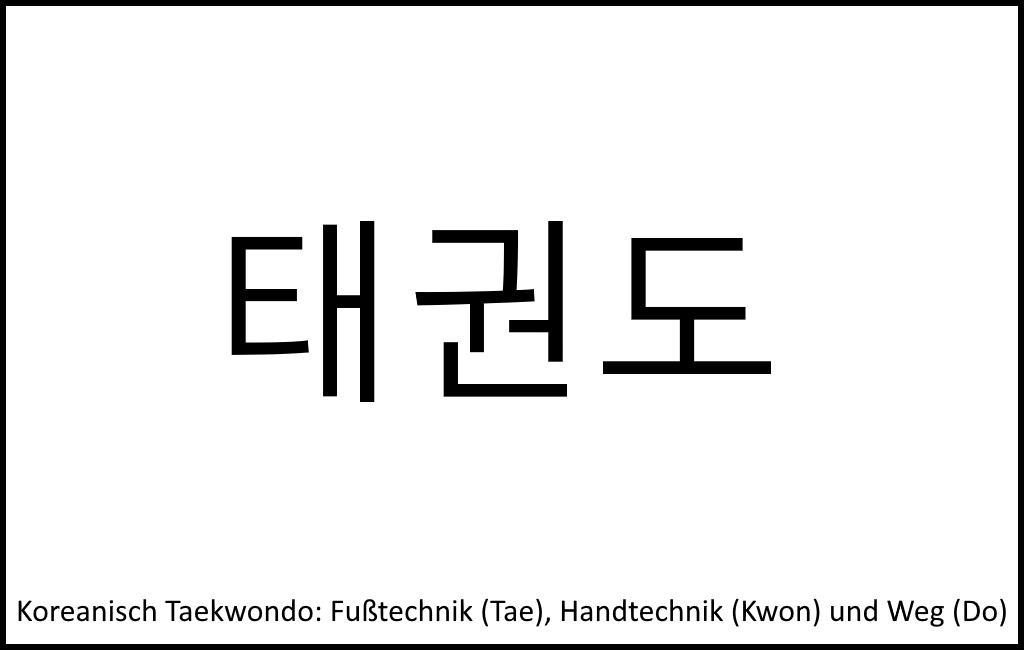 Taekwondo Zeichen und Begriffe