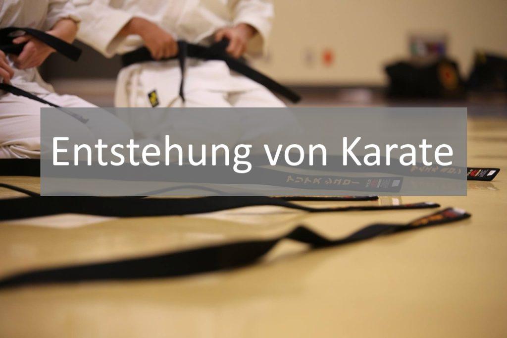 Karate Geschichte