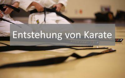 Geschichte des Karate: Die Entstehung